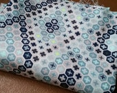 One yard Tula Pink Saltwater Tortoise Shell in Aqua Blue OOP HTF