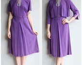 1940s Dress // Plum Rayon Dress & Jacket // vintage 40s dress