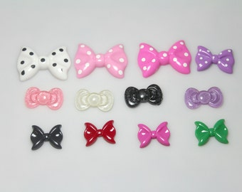 Bows Bows and more Bows Cabochon Resin Pack - Baby Shower Headband Station - Set of 12