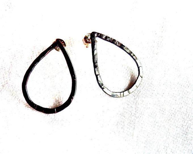 Post Earrings, Teardrop, Rustic Earrings, Bohemian Earrings, Hippie Earrings, Small Gift for Her, Dangle Earrings