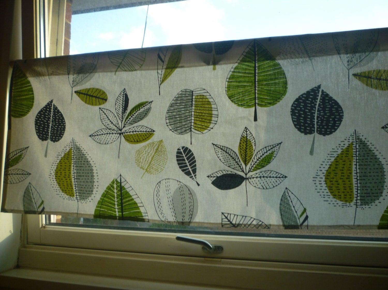 Lime Green Grey Curtain Valance Floral Modern Cafe Curtain Rod