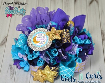 Ready To Ship I Love You To The Moon Funky Loopy Boutique Bow
