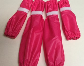 Bright Candy Pink Dog Leg Protectors 4 piece Standard Poodle size set