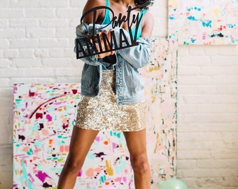 Party Animal Signage 1 CT. , Laser Cut, Birch Plywood, Cheeky and Sassy Photobooth Signage, Weddings, Birthday Party