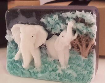 stocking stuffer - elephant soap bar - activated charcoal black soap - boyfriend gift - husband gift - mom stocking stuffer - teen gift