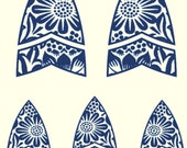 A340 (William Morris Shapes)  for the Rolling Mill, Low Relief Pattern.