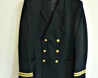 US Navy Officer Dress Blue Jacket Uniform Lieutenant 0-3 USN  1980s