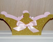 Large Pink and Gold Crown Shaped Box, Centerpiece