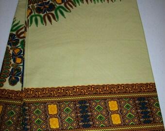 Pear Green, dashiki fabric wholesale 6 yards/ Dashiki clothing/ Addis Ababa/ Dashiki Bags/ Kitenge fabric/ Java print