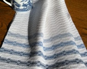 Kitchen Towel Blue andWhite Handwoven, Guest Towel, Chef Towel, Tea Towel, Basket Liner, Hand Towel, Bath Towel, Gourmet Chef, Swedish Style