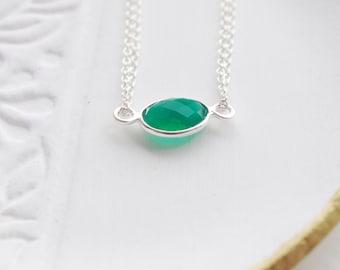 Gemstone bracelet, green onyx, faceted gemstone bracelet, friendship bracelet, delicate bracelet, layering jewelery, wedding jewellery