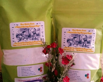 SUPER Special Natural  Laundry Detergent Soap --500 to 1000 Loads--4 JUMBO bags--Plus--2 FREE Bonus Bags--Over 3 years of Laundry Detergent