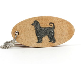 Afghan Hound Key Chain, Dog Memorial Commemorative Key Ring, Wooden Pet Key Fob, Afghan Hound Key Ring, Kucchi Hound, Tazi Spay Accessory