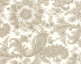 Miss Scarlet - Paisley in Ivory by Minick & Simpson for Moda Fabrics