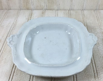 Vintage Wedgewood  Ironstone Handled Plate