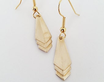 Short Chevron Gold Earrings // Geometric Jewelry // Arrow Earrings // Geometric Earrings// arrow jewelry // triangle earring