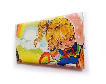 Rainbow Brite Purse - Upcycled Comic Book in Vinyl