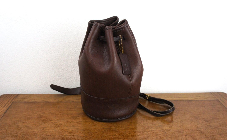 Vintage Coach Bixby Drawstring Sling Bag Backpack Mahogany