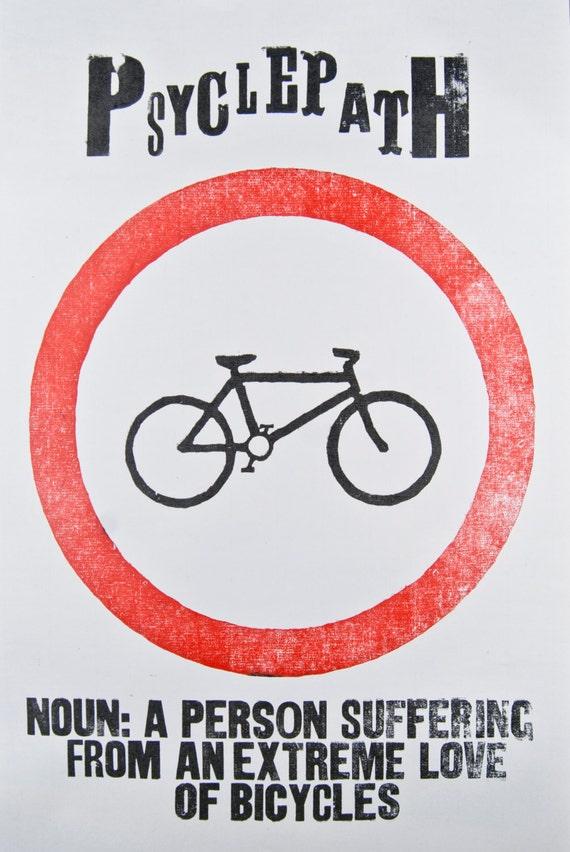 Psyclepath Letterpress Poster