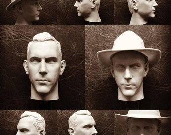 One of a Kind Kevin Costner Chicago Cop head 1/6th scale