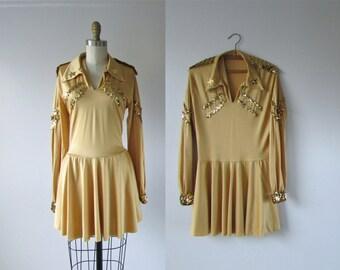 vintage dance costume / 1970s majorette dress