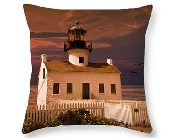 cabrillo national monument lighthouse sunset by the san diego bay in california no03833 decorative - San Diego Home Decor