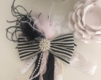 Paris by cozette couture bow headband