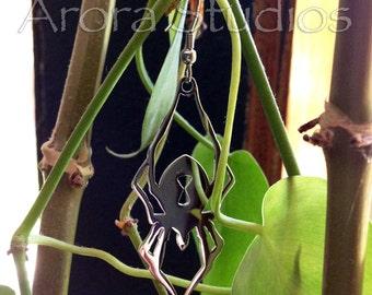 Black Widdow Spider! - Stainless Steel Earring Set