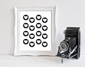 Black & White | Hearts | Nursery Art | Wall Art | Nursery Decor | 5x7 | 8x10 | 11x14
