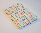 Passport Cover Sleeve Case Holder paint stroke in pastels on white Cotton Fabric