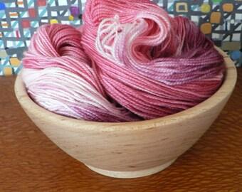 Tight Twist Handpainted Fingering Weight Superwash Merino Cashmere Nylon Sock Yarn-Cranberry 400 yards
