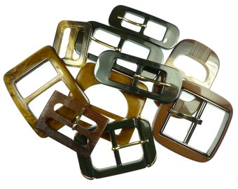 Vintage belt buckles brown mix
