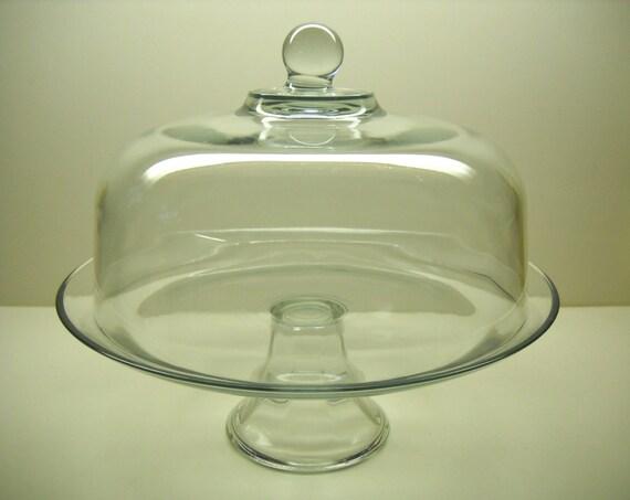 vintage glass covered pedestal cake stand wedding display. Black Bedroom Furniture Sets. Home Design Ideas
