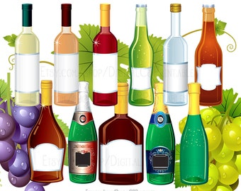 Drink clipart Wine clipart Alcohol clipart Bottle clipart drink clip art wine clip art png files png clipart Party clipart