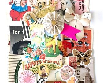 Odd and pieces Scrap Pack - Vintage paper ephemera 2