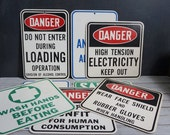 Danger Cardboard Sign Collection