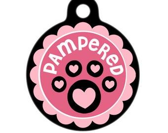 Pet Tag - Pampered Paw Pet Tag, Dog Tag, Cat Tag
