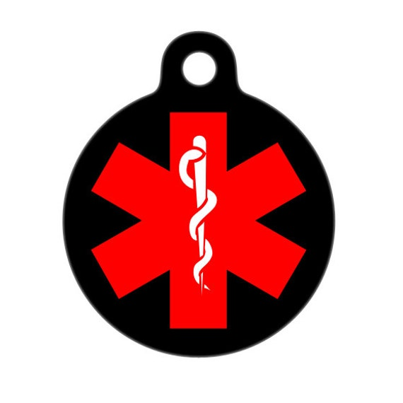 Medical ID Tag - Medical Alert ID Tag, Child ID Tag, Pet Tag, Dog Tag, Cat Tag