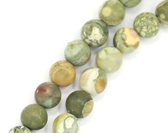 Rhyolite Beads - Matte Finish - 6mm Round - Limited Quantity