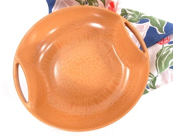 Ellingers Agatized Wood, Modern Fruit Bowl, Serving Bowl, Salad Bowl, Minimalist, Mid Century, Faux Wood, 1950s, 60s