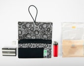 Rolling tobacco pouch handmade fabric Stones