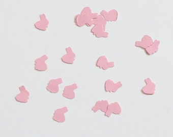 Pink Bunny Rabbit Confetti Baby Shower 600 Pieces