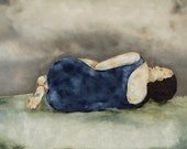 "Reserved listing - Fine art giclee print, figurative wall art ""Eleanor"""