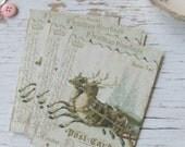 Christmas notecards - Reindeer notecards - Noel - notecards - blank notecards - embellishments