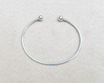 XL BEADABLE BANGLE for European charms, beads...fits men too!