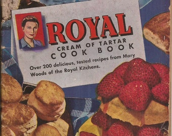 Royal Cream of Tartar Cookbook, Vintage Cookbook, Advertising Cookbook, Paperback, Baking, Recipes, 1944 Edition, Pies, Cakes, Biscuits