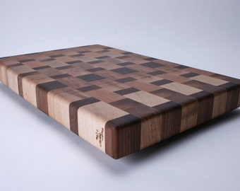 Ambrosia Maple, Cherry and Walnut End Grain Cutting Board #176