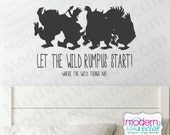 Where The Wild Things Are Quote Vinyl Wall Decal Sticker Let the Wild Rumpus Start! Carol Max Theme Nursery Kids Room