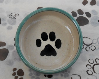Paw Print Bowl in Sea Glass (Small)