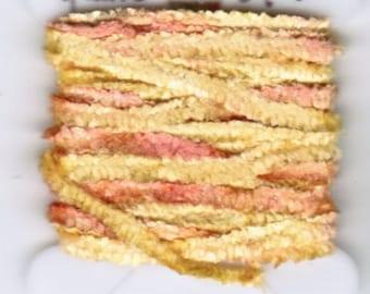 100% Silk Chenille - 4mm Golden Peach